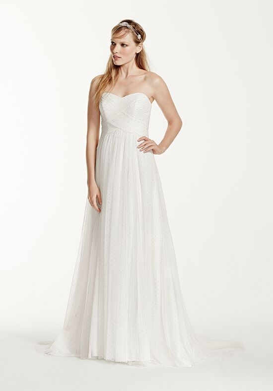 David's Bridal Galina Style WG3438 Sheath Wedding Dress