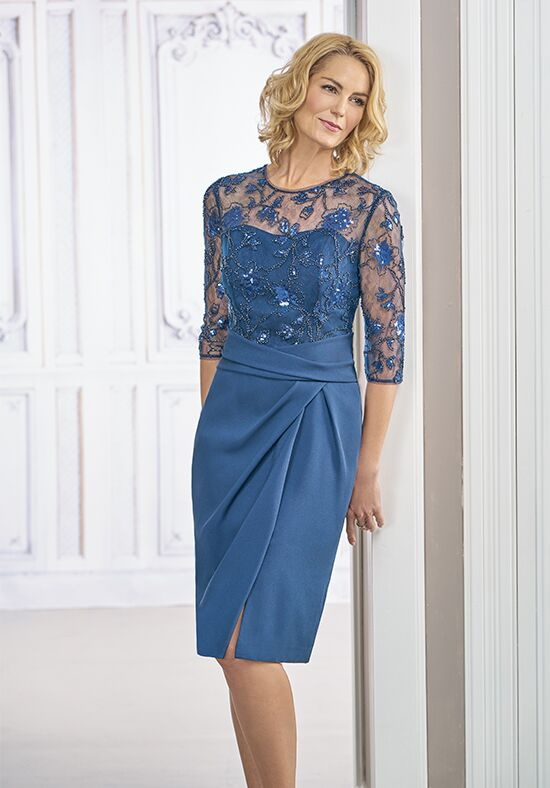 Jasmine Black Label M190017 Blue Mother Of The Bride Dress