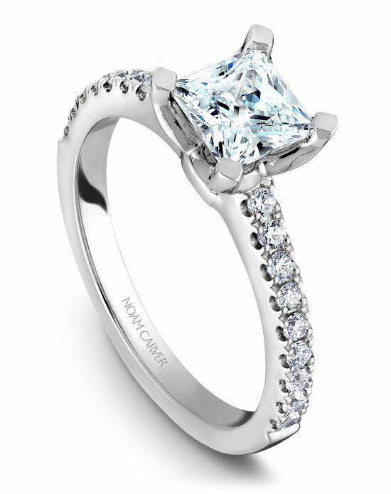 Noam Carver Elegant Princess Cut Engagement Ring