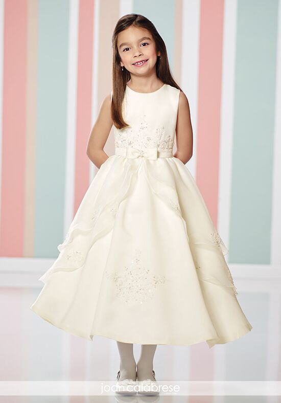 Joan Calabrese by Mon Cheri 216315 Ivory Flower Girl Dress