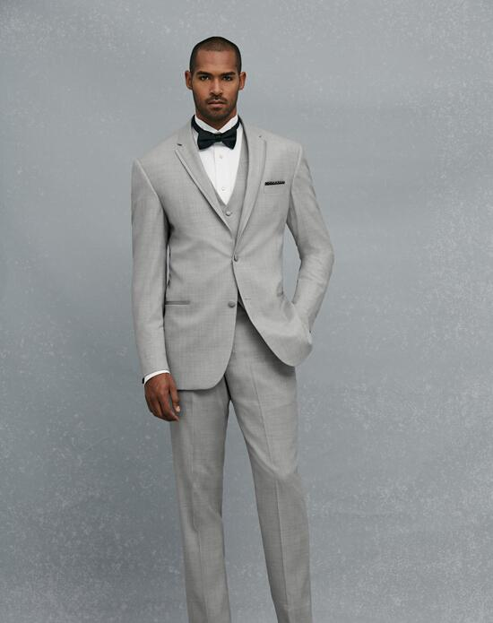 Jos. A. Bank Notch Lapel Gray Tuxedo Wedding Tuxedos + Suit photo