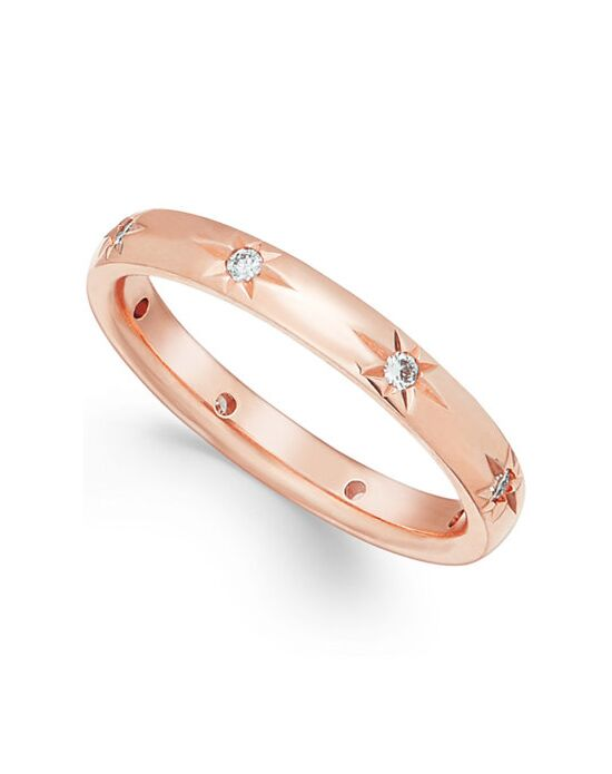 Macy S Fine Jewelry Star By Diamond Wedding Band In 18k Rose Gold 1 8