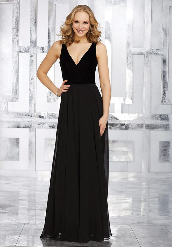 Morilee by Madeline Gardner Bridesmaids Style 21535 V-Neck Bridesmaid Dress