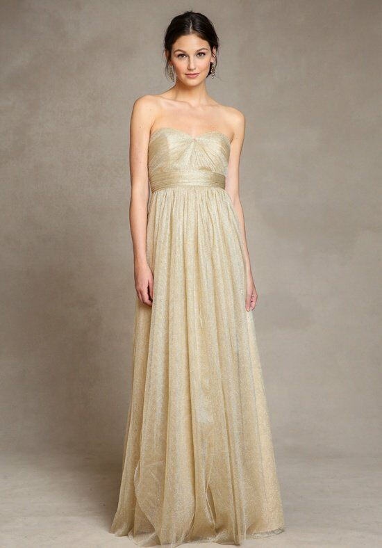 Golden color bridesmaid dresses
