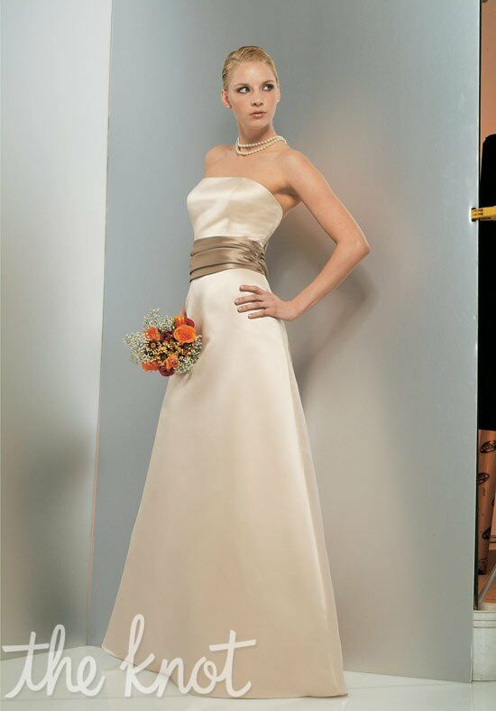 Bill Levkoff 966 Strapless Bridesmaid Dress