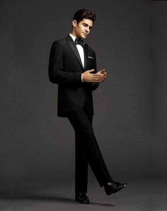 The Men\'s Wearhouse® Calvin Klein Peak Lapel Tuxedo Wedding Tuxedo ...