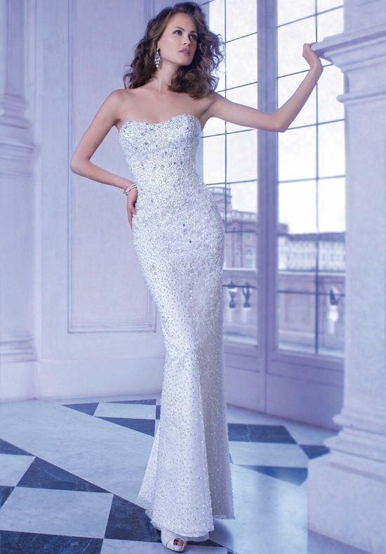 Demetrios 563 Sheath Wedding Dress