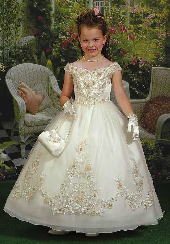 Cupids by Mary's F653 White Flower Girl Dress