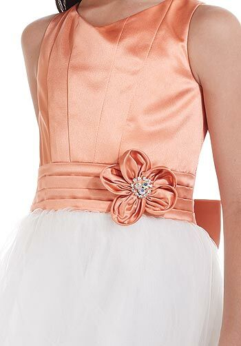 Pretty Girls 53102 Orange Flower Girl Dress