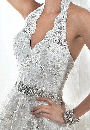 Demetrios 1441 A-Line Wedding Dress