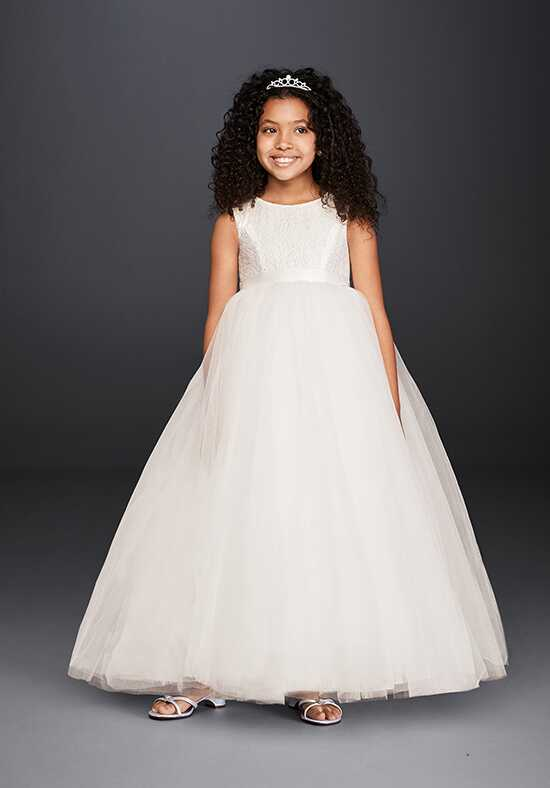 David's Bridal Flower Girl David's Bridal Style RK1368 Ivory Flower Girl Dress