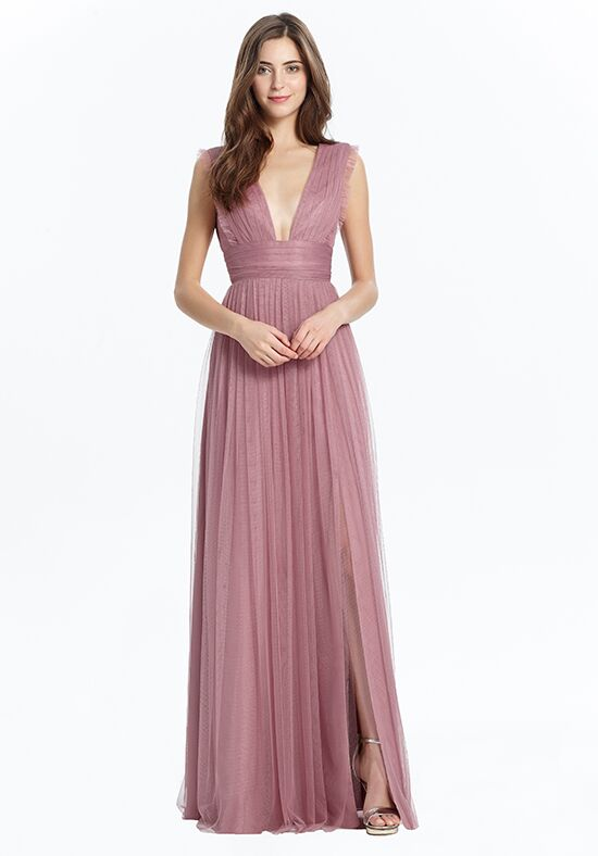 Monique Lhuillier Bridesmaids 450468 V-Neck Bridesmaid Dress
