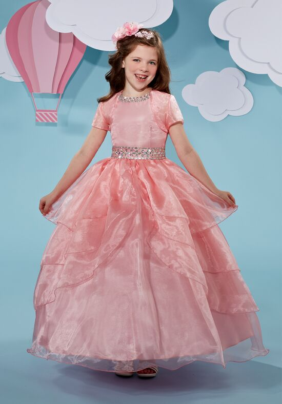 Cupids by Mary's F510 Pink Flower Girl Dress