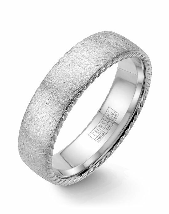 CrownRing WB-006R6W-M10 White Gold Wedding Ring