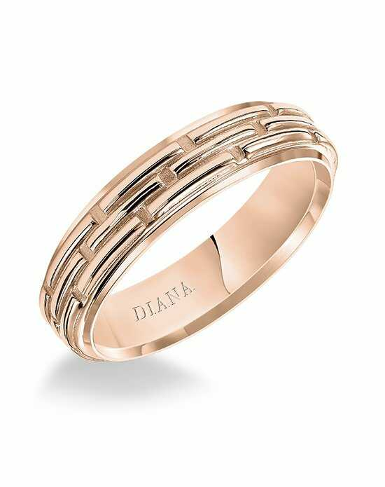 Diana 11-N85R55-G Rose Gold Wedding Ring