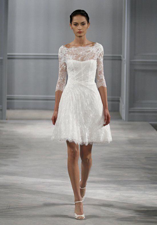 Short white dress for wedding.