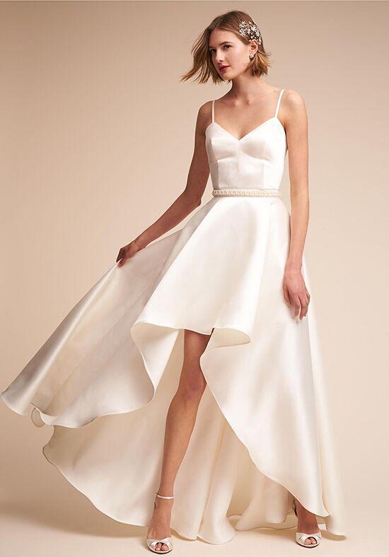 Bhldn jewel bodysuit zelda skirt wedding dress the knot for Wedding dress bodysuit and skirt