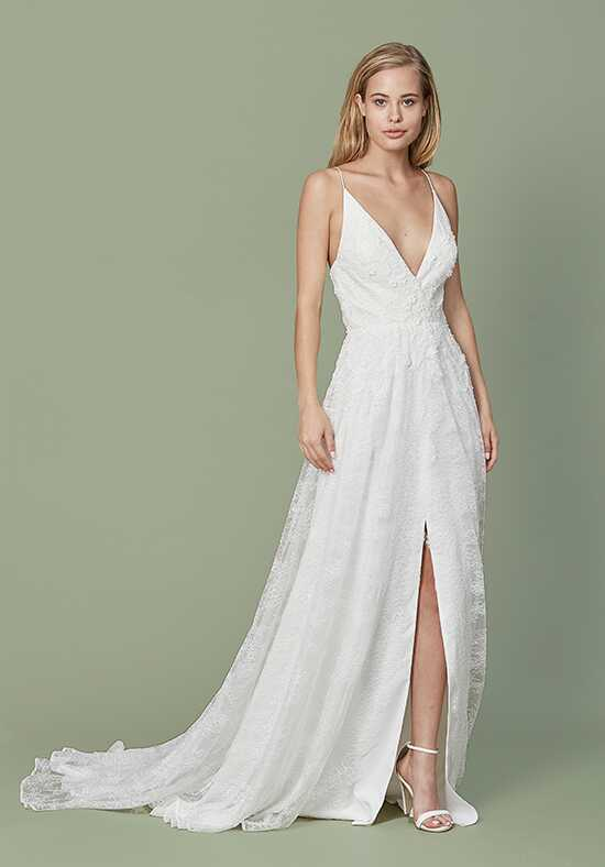 Christos Malia Sheath Wedding Dress