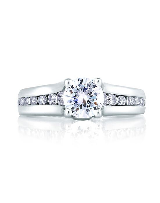 A.JAFFE Elegant Round Cut Engagement Ring