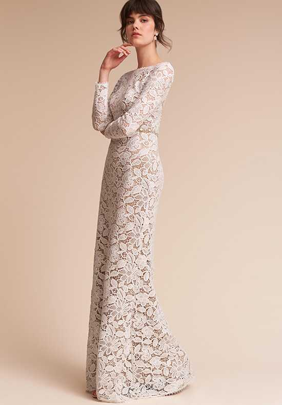 BHLDN Medallion Sheath Wedding Dress