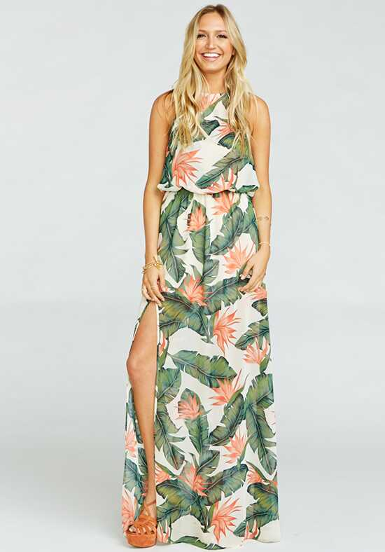Show Me Your Mumu Heather Halter Dress - Paradise Found Halter Bridesmaid Dress