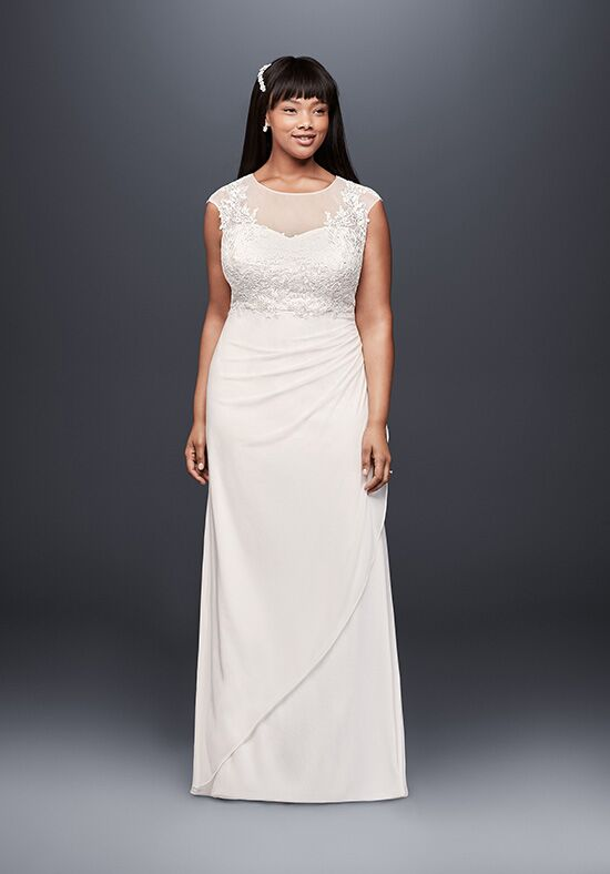 David's Bridal DB Studio Style 184336DBW Sheath Wedding Dress