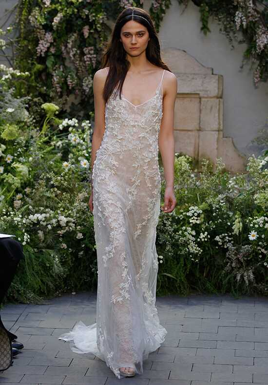 Monique Lhuillier Gia Sheath Wedding Dress