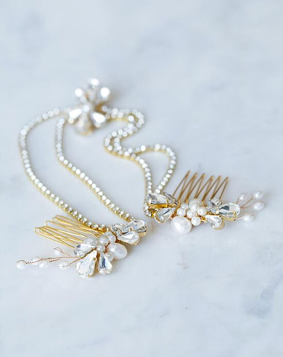 Davie & Chiyo | Hair Accessories & Veils Saoirse Headpiece Gold, Ivory, Silver Pins, Combs + Clip