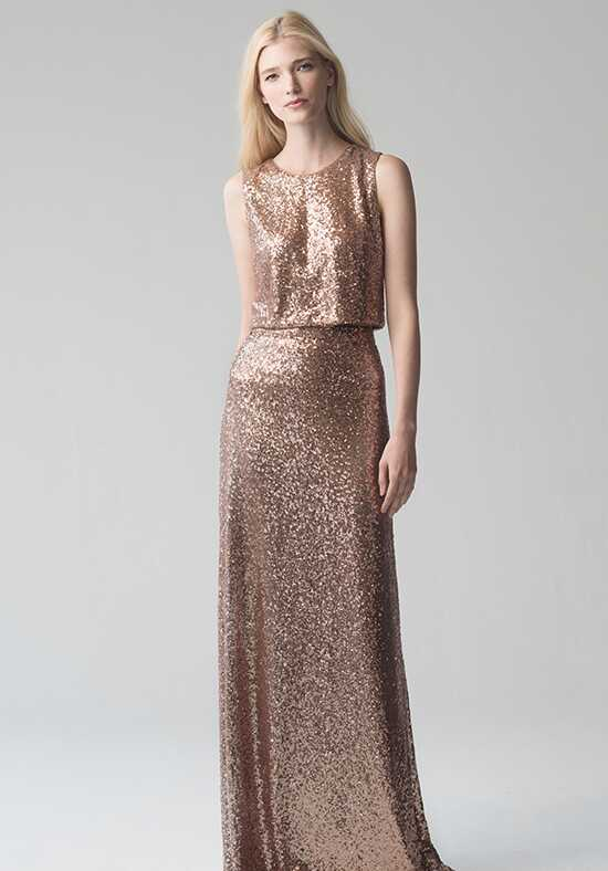 Jenny Yoo Collection (Maids) Camri Top {Rose Gold} #L1732 Bateau Bridesmaid Dress