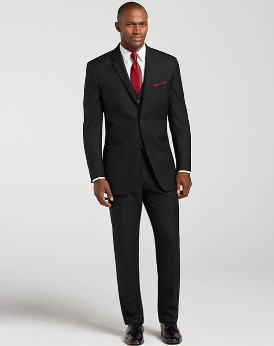 Men S Wearhouse Notch Lapel Black Suit Tuxedo