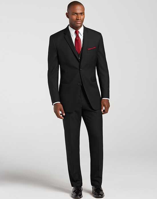 Men's Wearhouse Notch Lapel Black Suit Black Tuxedo