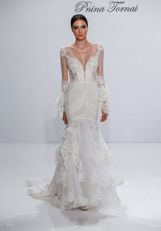 Pnina tornai for kleinfeld 4308 wedding dress the knot for Pnina tornai wedding dresses prices