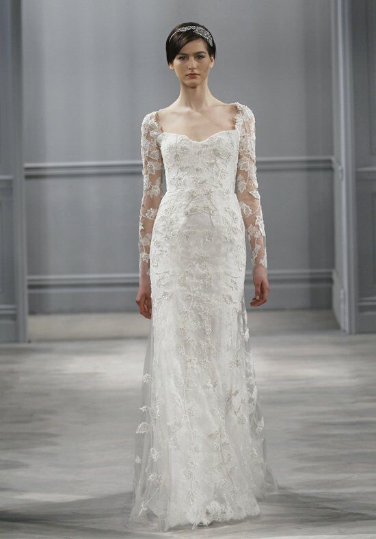 Monique Lhuillier Leaticia Sheath Wedding Dress