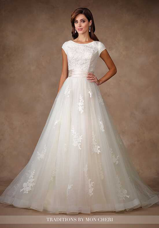 Modest by Mon Cheri TR11702 A-Line Wedding Dress