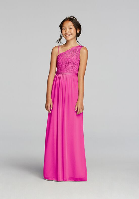 David's Bridal Junior Bridesmaids David's Bridal Style JB9014 One Shoulder Bridesmaid Dress