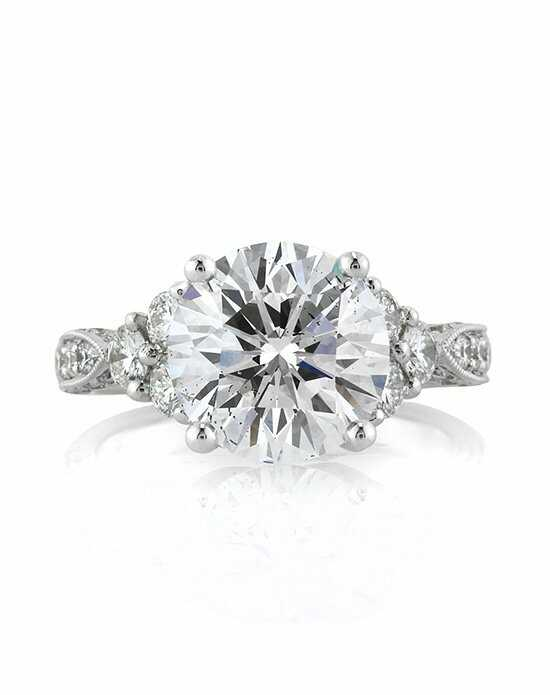 Mark Broumand Glamorous Round Cut Engagement Ring