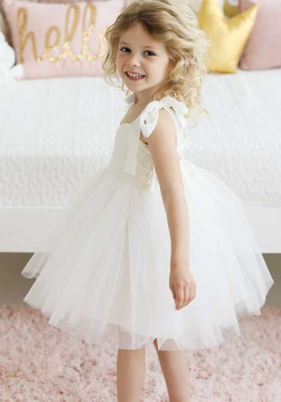 FATTIEPIE flirty Ivory Flower Girl Dress