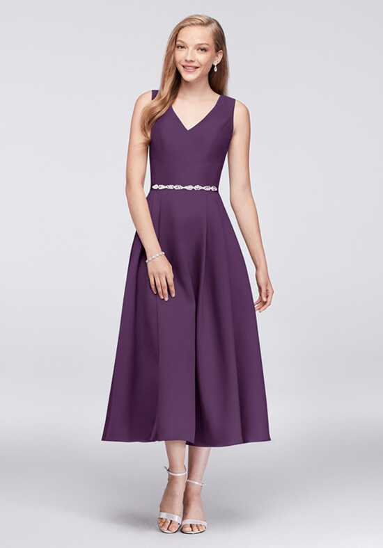 Oleg Cassini Exclusively at David's Bridal Bridesmaid Dresses OC290027 V-Neck Bridesmaid Dress