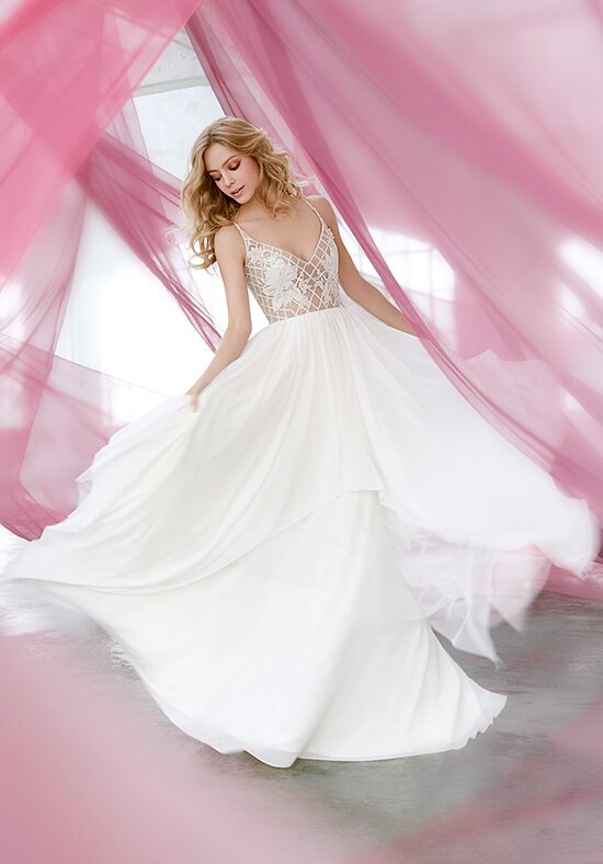 Blush by Hayley Paige 1607 Honeycomb A-Line Wedding Dress