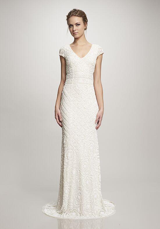 Theia lilia wedding dress the knot theia lilia sheath wedding dress junglespirit Choice Image