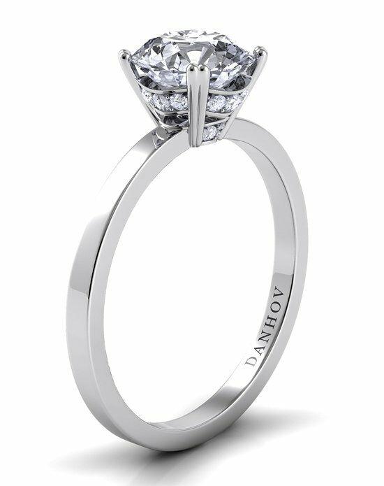 danhov classico diamond crown platinum wedding ring - Crown Wedding Ring