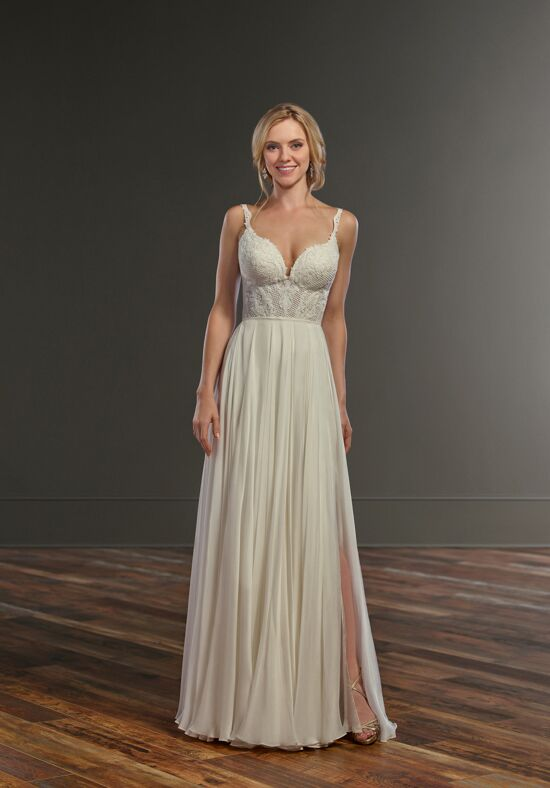 Martina Liana Caity + Shae Sheath Wedding Dress