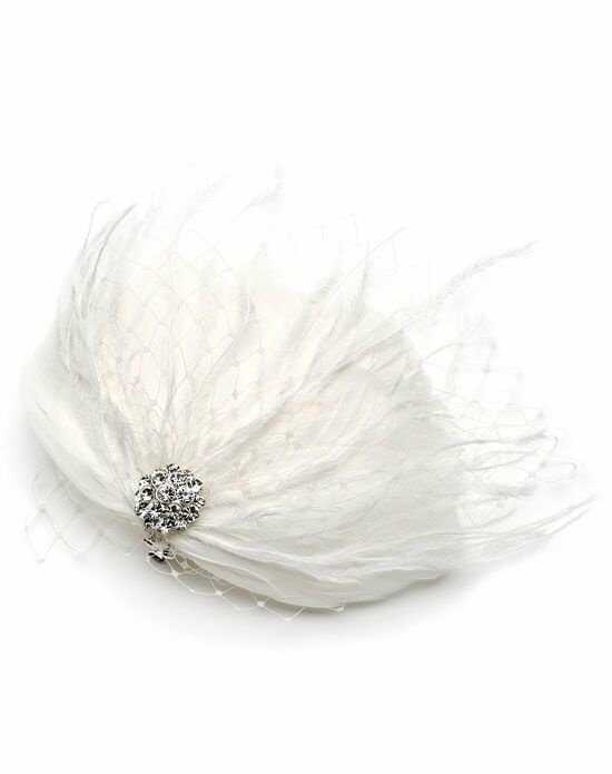 USABride Josephine Feather Clip TC-2231 Silver Pins, Combs + Clip