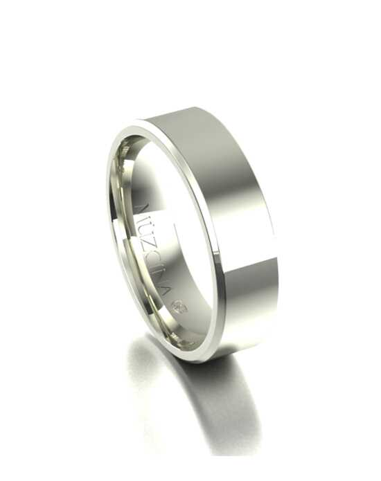 MÜZCINA by JJBückar BL30-H-100-X-XX-XX-14W-PX-65 White Gold Wedding Ring