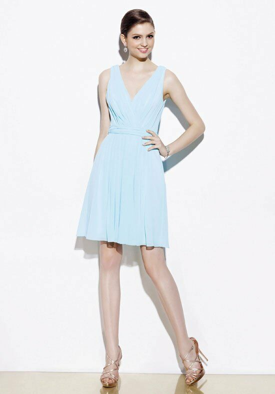 Badgley Mischka BM7S V-Neck Bridesmaid Dress
