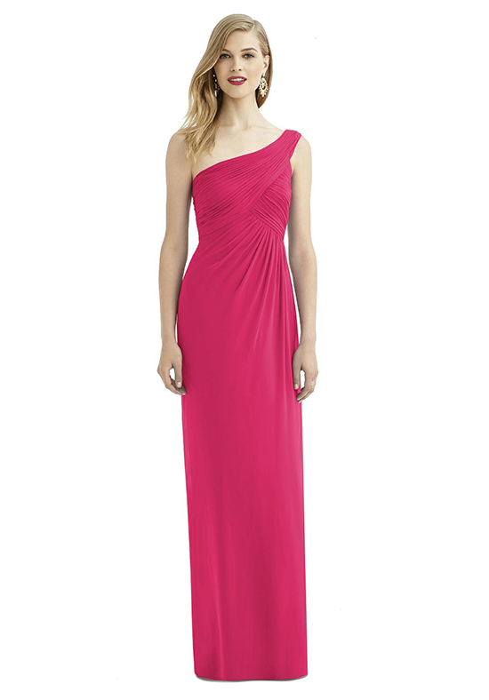 After Six 6737 One Shoulder Bridesmaid Dress