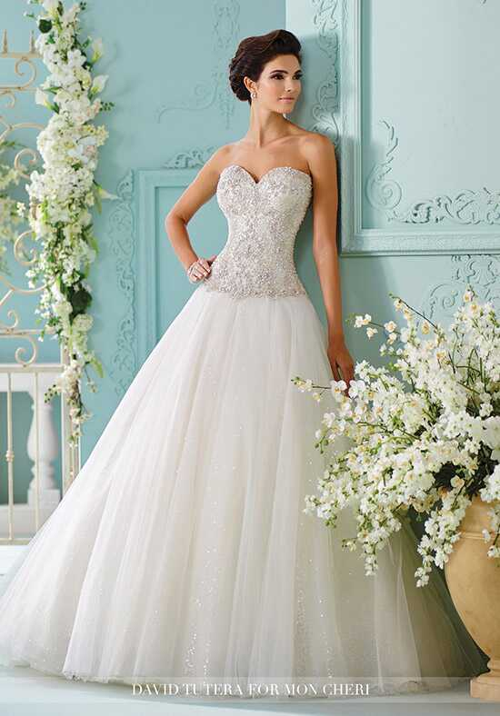 David Tutera for Mon Cheri 216258 Saphia Ball Gown Wedding Dress