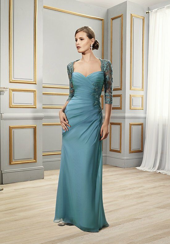 Val Stefani Celebrations MB7502 Blue Mother Of The Bride Dress