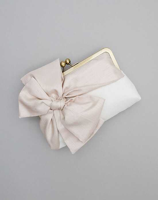 Davie & Chiyo | Clutch Collection Classic Bow Clutch: Champagne on Ivory Ivory, Champagne Clutches + Handbag