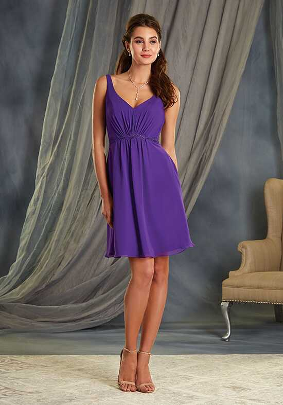 Alfred Angelo Signature Bridesmaids Collection 7366S V-Neck Bridesmaid Dress